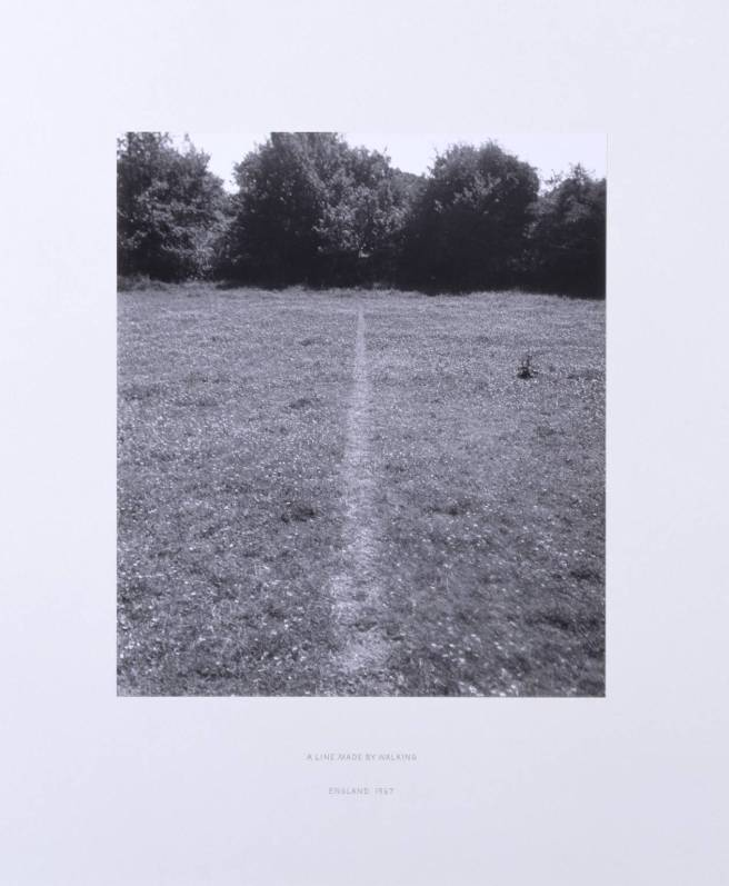 © Richard Long (1967) - A Line Made By Walking