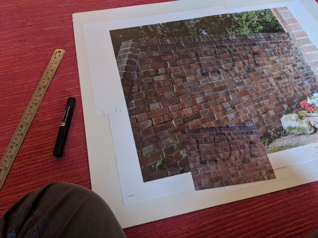 I Printed a Large Version of the Photograph of the Wall With Graffiti On It and a Smaller Cropped Version...