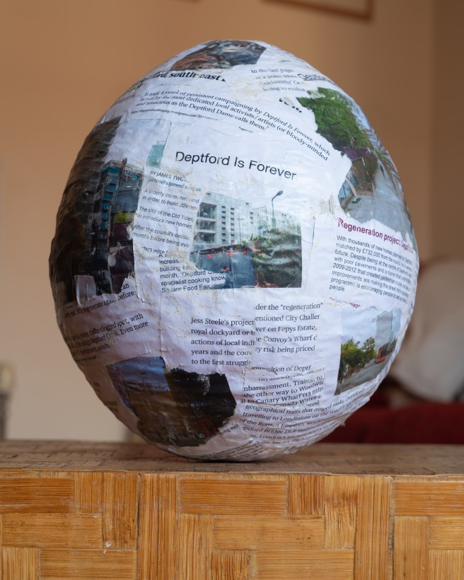 One View of Deptford Changing in a Papier-mâché Ball