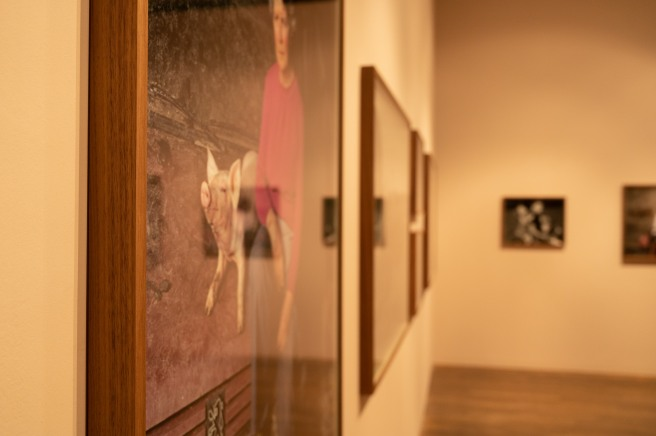 A Close-up of the Framing Used in the Presentation of Parade by Mark Neville in the Photographers' Gallery