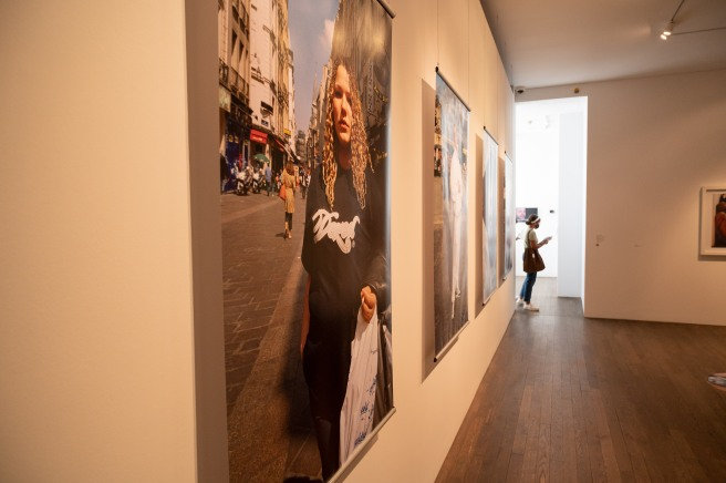 A Side-on View of the Presentation of Nous Sommes Halles by Mohamed Bourouissa at the Photographers' Gallery