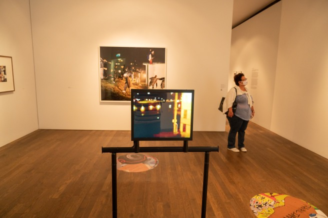 In the Foreground is Pictured the Video Installation of Temps Mort by Mohamed Bourouissa at the Photographers' Gallery