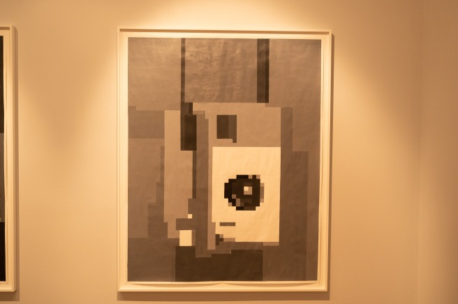 ...The Code was Transcribed Via Telephone to Form Paintings Like This One